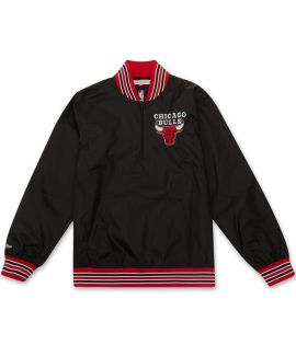Sweat Mitchell & Ness Chicago Bulls NBA 1/4 Zip Nylon Crewneck Noir